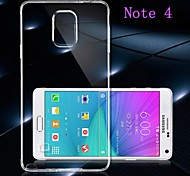 TPU Transparent Soft Back Case for Samsung Galaxy Note 4 N9100 N9106W N9108V N9109W