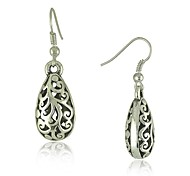 Ethnic Vintage Tibetan Silver Carving Drop Earrings Vintage Jewelry Earrings