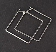 simples e fácil brincos de diamantes quadrados coringa