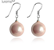 Lureme®12mm Colorful Round Pearl Earring
