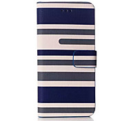 Stripes Pattern Wallet Leather Case  for iPhone 6 (Assorted Colors)