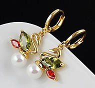 Women's Han Edition Swan Fashion Earrings