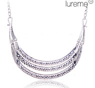 Lureme Vintage Alloy Three-row Crescent Pattern Necklace(Assorted Colors)