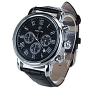 SPEATAK SP9049G Men's Fashion Round Stainless Steel PU Leather Wrist Watch(Assorted Colors)