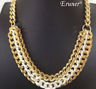 Eruner® Shiny Light Chunky Curb Chain Necklace