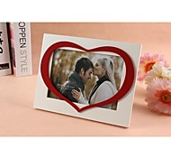 Personalized Framed Photo 7 Inches Love Design White Wooden Frame with Stand 1 Photo