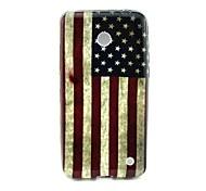 patrón de la bandera americana retro TPU caso suave para Nokia Lumia 630