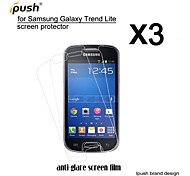 protetor de alta transparência fosco lcd de tela para Samsung Lite tendência galáxia s7390 (3 peças)