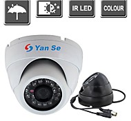 "YanSe® IR Dome Camera 1/3"" CMOS 24-LED 1000TVL Waterproof CCTV Vision Security Cameras 632-1CF"