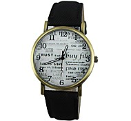 Women's Letter Style PU Band Quartz Casual Watch(Assorted Colors)