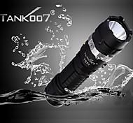 tank007® TR01 wiederaufladbare 5-Modus Cree XP-G R5 Hochleistungs-LED-Taschenlampe Camping (420lm, 1x18650, schwarz)