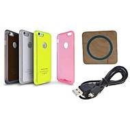 Bluestar™ Qi Wireless Charging Charger Transmitter C500M + Wireless Charger Receiver Case for iPhone 6 (Assorted Color)