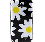 Large shiragiku  Pattern TPU Soft Back Cover for LG L70
