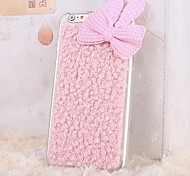Plush Rabbit ears Bowknot TPU Back Cover Case for iPhone 6 Plus (Assorted Colors)