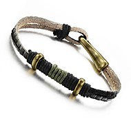 Leather Woven Men's Bracelet Christmas Gifts