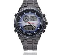 cinturino in acciaio impermeabile vigilanza di sport analogico retroilluminazione colorato orologi digitali da polso militare degli uomini (colori