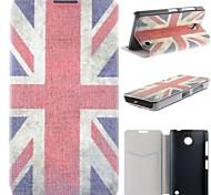 bandera nacional del Reino Unido de la PU cuero caso de cuerpo completo con ranura para tarjeta para Nokia Lumia 630 635 630 ds 630 dual sim
