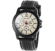 Men's Sport Design Silicone Band Quartz Wrist Watch  (Assorted Colors)