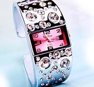 Women's Square Dial Bright Diamond Alloy Band Quartz Bracelet Watch (Assorted Colors) Cool Watches Unique Watches