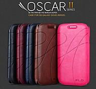 promotion yu trois étuis en cuir série de téléphone pour samsung duos de style galaxie i8262d (couleurs assorties)