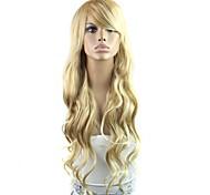 28-Zoll-langen Hochtemperaturfaser Welle weibliche elegante Mode synthetische Berühmtheitsperücke