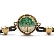 tempo colar de pingente de arte árvore de vida árvore jóia pulseira de vidro cabochão
