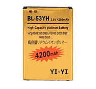 YI-YI™ Replacement Decoded High-Capacity 3.8V 4200mAh Li-ion Battery for LG G3 / BL-53YH / D855 / VS985 / D830 / D851
