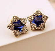 Bling Bling Stars Stud Earrings (1 pair, Blue, Green)