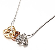 Fashion Hollow Heart Silver Alloy Pendant Necklace(1 Pc)