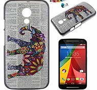 Elephant Pattern PC Back Cover Case With Dustproof plug for Motorola G2