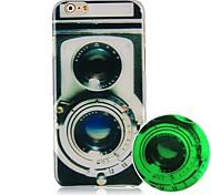 Camera Luminated Pattern Hard Back Case for iPhone 6