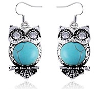 Little Cute Owl Sapphire Earrings