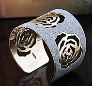 manguito moda a preços acessíveis flor pulseiras de cor aleatória