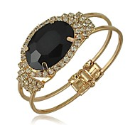 Luxurious Oval Gemstone Bracelets  (Red, Blue, Black)