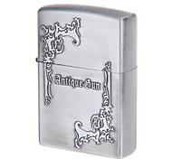 Pocket Antique Gun Design Zinc Alloy Oil Lighter(Silvery Grey)