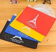 la borsa torre eiffel modello pvc stoccaggio cerniera (colore casuale)
