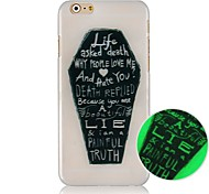 Black Figure Pattern Luminated Hard Back Case for iPhone 6