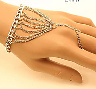 Eruner®Punk Girls Charm POP Women Celebrity Hand Harness Bracelet Bangle Chain Ring