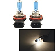 Carking™ H11 100W 5000K 1100LM Ultra Warm White Halogen Headlight Bulbs (12V / Pair)
