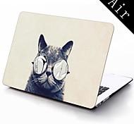 Katze mit sexy Brille Design Ganzkörper-Schutz-Kunststoffgehäuse für 11-Zoll / 13 Zoll neue Mac Book Luft