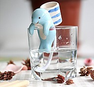 NEJE Self Watering Animal Plant Planters - Dolphin with Cup