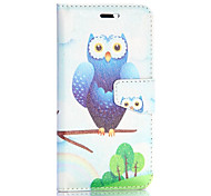 Cute Owl Pattern Fashion Silk Pattern Wallet Style Magnetic Flip Stand PC+PU Leather Case for iPhone 6