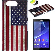 Back Cover Pattern National Flag PC Hard Case Cover For Sony Sony Xperia Z3 Compact