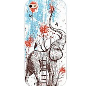 Elephant Pattern Hard Back Case for iPhone4/4s