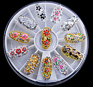 12PCS Embedded Alloy Accessories Embedded Rhinestone Handmade DIY Craft Material W33