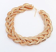 European Style Fashionable Simple Metal Necklace
