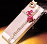4.7 Inch  Pink Butterfly with Diamond Hard Back Cover  for iPhone 6