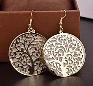 European and American Hollow Out Life Tree Scrub Drop Earrings(Assorted Colord)