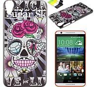 caso duro del modello pc teschio rosa e supporto del telefono per HTC Desire 820