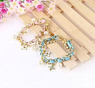 Crystal Strings of Pearl Flower Bracelet